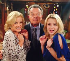 Jessica Collins, Ray Wise and Hunter King. Ian Ward, Ray Wise, Jessica Collins, Hunter King, Dreams And Nightmares, Soap Stars, Young And The Restless, Sister Love, Great Memories