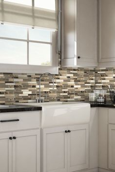 backsplash design idea using Italy Stone Peel & Stick Wall Tile Eco Friendly Kitchen Kitchen Design Small, Kitchen Remodel, Kitchen Cabinet Design, Backsplash Designs, Kitchen Interior, Interior Design Kitchen, Kitchen Remodel Cost, Kitchen Cabinets, Kitchen Wall Tiles
