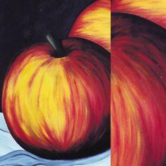 Äpfel -Acryl auf Leinwand- 100 x 120 cm