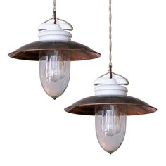 Industrial Werkstattlampe (Copper) | From a unique collection of antique and modern chandeliers and pendants  at http://www.1stdibs.com/furniture/lighting/chandeliers-pendant-lights/