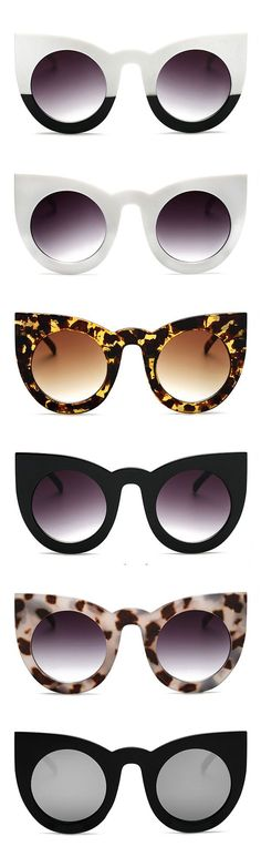 Thick Frame Cat Eye Sunglasses