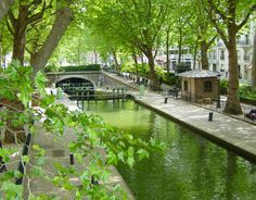I WILL reenact the scene from Amelie on the lovely Canal Saint-Martin ! skipping stones to remind us to go with the flow!  #SpringEmerald #MissKL #SpringtimeinParis