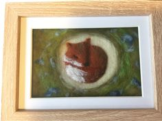 Needle felt picture fox  #needlefelt #fox #handmade  https://www.facebook.com/whatktdidnextMCR