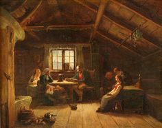 Buy online, view images and see past prices for Circle of Adolphe Tidemand (Norwegian, Invaluable is the world's largest marketplace for art, antiques, and collectibles. People Reading, North Europe, Nordic Lights, Romanticism, Historic Homes, Contemporary Paintings, Victorian Era, View Image, Old Houses