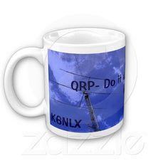 Amateur Radio QRP and Callsign Mug 3  #gift #photogift #zazzle #Christmas #hamr #amateurradio #QRP