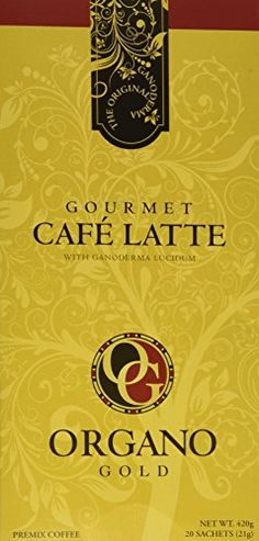 Organo Gold Gourmet Cafe Latte (1 Box of 20 Sachets) * More details can be found by clicking on the image.