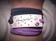 Bewitching Hand Stamped Silk Wrap