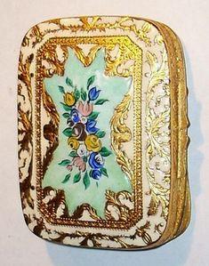 Antique Vintage Italian Enamel Compact
