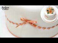 Video tutorial torta decorata con ribbon insertion (nastro inserito nella pasta di zucchero). English subtitles. Web page multilingual http://www.italiancakes.it/torta-decorata-con-nastro/
