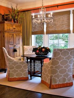 Traditional Orange And Taupe Design, Pictures, Remodel, Decor and Ideas - page 5