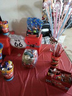 Disney cars candy buffet
