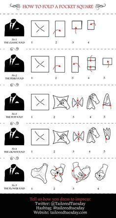 HOW TO WEAR A POCKET SQUARE - Google Search