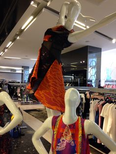 The elevated mannequins for view point vantage. ~ www.icityretail.com