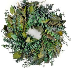 Mountain Creekside Eucalyptus Natural Preserved Wreath $19.99 - lots of wreaths at good prices