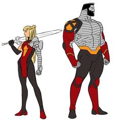 My magik and colossus redesign for flamecon. Wanted to do a costume that unified them as siblings for once