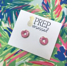 c3f0378ac40 Prep Obsessed · Products · Mini Strawberry Donut Enamel Studs