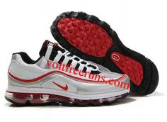 quality design 32311 b38b0 H1788 Nike Air Max 24-7 Mens Shoe White Red Silver Black Nike Free Shoes