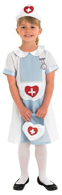 Rubie's Official Nurse Fancy Dress, Children Costume, 104 cm - Small 3/4 Years