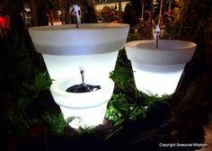 Solar lit fountains were just one of the hot trends spotted at the 2012 Northwest Flower and Garden Show