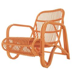 Rattan Chair in Orange