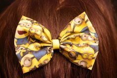 Minions Hair bow by MischievousArtistry on Etsy