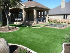 Fake grass austin putting greens are the perfect back or front yard accessorie to not only pull your landscaping together but to bring the entire family together!