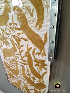 abode love: a man's home is his wife's castle: DIY otomi runner + lucite