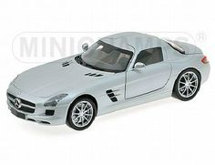The Mercedes Benz SLS AMG 2010 Matt Silver is part of the Minichamps 1/18 Road Cars Collection.
