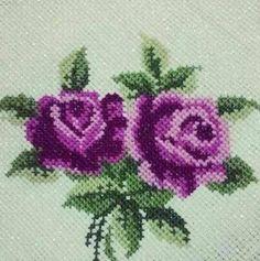 Crochet Bedspread, Crochet Motif, Embroidery Bags, Embroidery Designs, Cross Stitching, Cross Stitch Embroidery, Cross Stitch Designs, Cross Stitch Patterns, Cross Stitch Rose