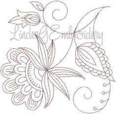 jacobean embroidery patterns - Flower 1, large - Site has numerous patterns for Sale. jwt