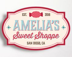 Sweet Shoppe Party Backdrop Sign Candy Shop by WestminsterPaperCo