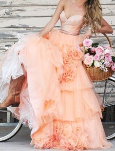 Orange Floral Layered Beaded sexy Party prom dresses 2017 new style fashion evening gowns for teens girls