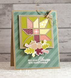 Hem Your Blessings Card by Amy Sheffer for Papertrey Ink (August 2015)