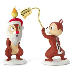 A Merry Pair Chip and Dale Set of 2 Ornaments