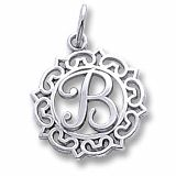 This adorable charm is available in every letter in Sterling Silver or Gold. The Decorative detail around the letter gives a romantic touch to this piece.