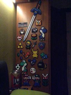 Perler Collection, Pokemon, Super Mario Bros, The legend of Zelda and NES control
