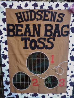 Bean Bag Toss Party Game Western Cowboy Style with by BooBahBlue, $92.00