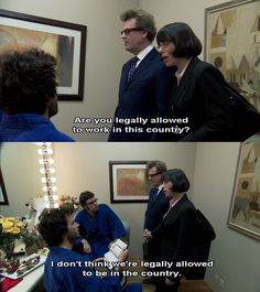 "Flight of the Conchords - ""I don't think we're legally allowed to *be* in the country."""