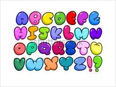 Illustration about Comic bubble shaped alphabet set. Illustration of graffiti, birthday, hand - 47545473 Bubble Letters Alphabet, Bubble Letter Fonts, Hand Lettering Alphabet, Graffiti Alphabet, Letter Art, Bubble Writing Font, Greek Alphabet, Alphabet Art