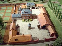 Layout of the farm at Hougoumont Village House Design, Village Houses, Bataille De Waterloo, La Haye, Casa Patio, Minecraft Blueprints, Wargaming Terrain, Micro House, Courtyard House