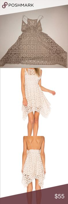 FREE PEOPLE JUST LIKE HONEY DRESS Still has tags!! Ivory lace with dainty straps Free People Dresses Asymmetrical