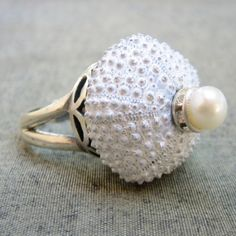 Sea Urchin Collection White Sultan #pearl Ring by StaroftheEast