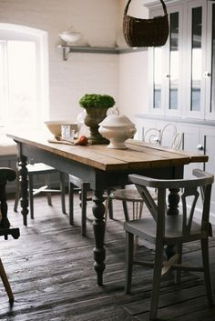 Tables, chairs and kitchen crockery are some of the lovely, vintage furniture you can find at our Cotes Mill showroom