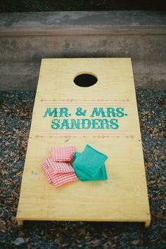 Looks simple enough to create your own bean bag toss game.