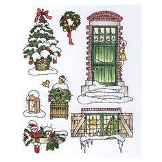 Motifs Sapin Porte et Fenêtre décoration Noël