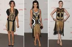 movie stars in Gucci flapper dresses.