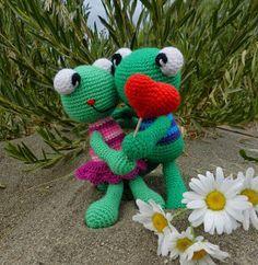 daxa rabalea: Ranas enamoradas + patrón