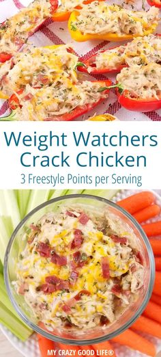 This Healthier Crack Chicken recipe is Weight Watchers friendly and perfect for a low carb diet It can be easily put together in the Instant Pot Crock Pot or in a skillet weightwatchers lowcarb Weight Watchers Low Carb Crack Chicken Poulet Weight Watchers, Plats Weight Watchers, Weight Watcher Dinners, Weight Watchers Chicken, Weight Watchers Diet, Weight Watchers Crock Pot Chicken Recipe, Crack Chicken Crock Pot, Weight Watchers Appetizers, Best Low Carb Recipes