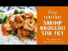 228 calories per serving. Healthy Teriyaki Shrimp Broccoli Stir Fry is ready in 30 minutes and is an easy asian recipe when you want dinner quickly. Teriyaki Stir Fry, Teriyaki Shrimp, Seafood Recipes, Dinner Recipes, Cooking Recipes, Easy Asian Recipes, Healthy Recipes, Shrimp Broccoli Stir Fry, Shrimp Dishes