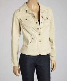 Another great find on #zulily! City Tan Button-Up Jacket by Live A Little #zulilyfinds